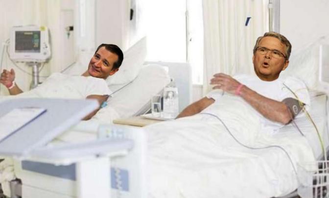 Cruz, Bush share room in psychiatric hospital