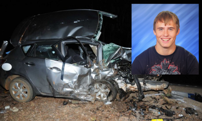 Teen killed in car accident actually complete douche